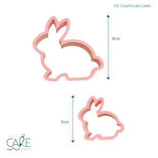 KIT COELHO DE LADO - (2 PEÇAS) - LOJA CAKE DESIGN