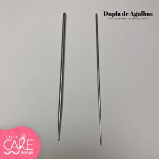 KIT DE AGULHAS EM AÇO INOX (2 PEÇAS) -  ESTECAS EM AÇO INOX
